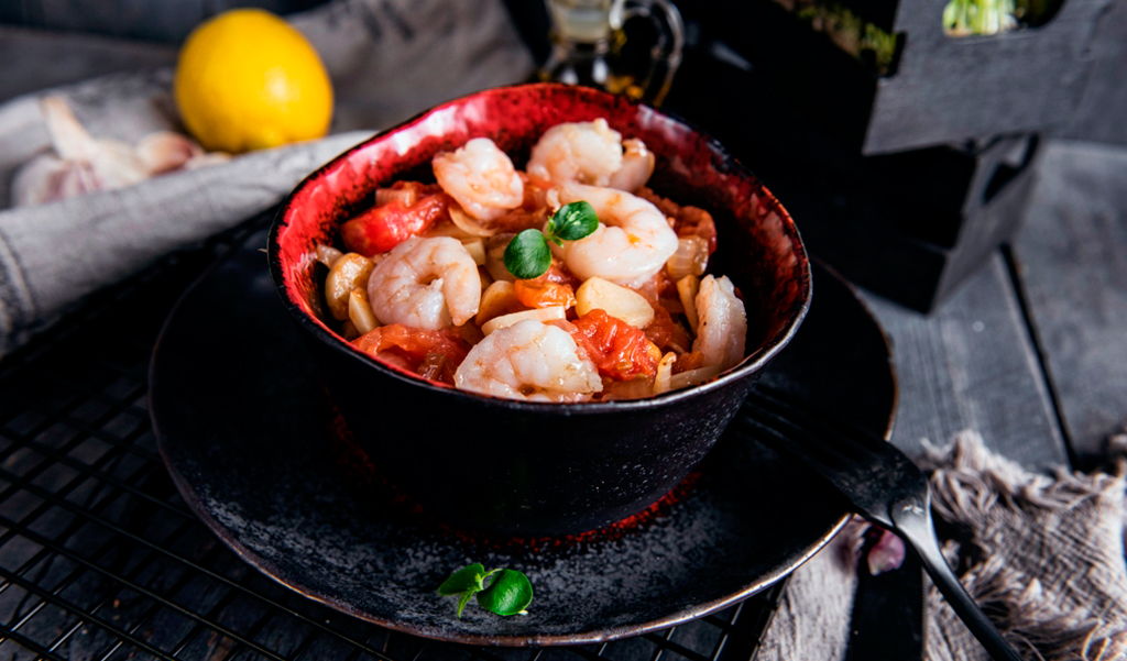 SHRIMP ORIENTAL IN PAN
