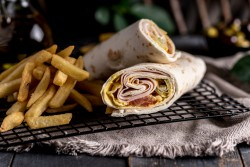 Turkey and Cheese Wrap